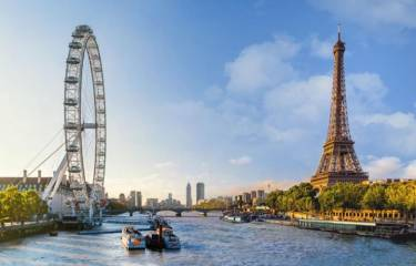 "Тур ""Эдинбург - Лондон - Париж"" , 3 экскурсии"